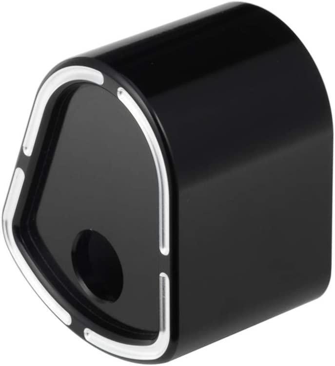 Benlari Black Ignition Switch Cover Aluminum Compatible for Harley Davidson Touring Electra Street Road Glide 2006-2013