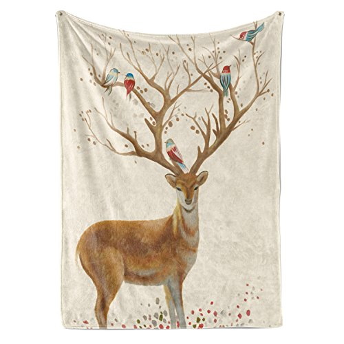 Livetty Tapestry, Water-Color Painting Deer Wall Hanging, for sale  Delivered anywhere in USA