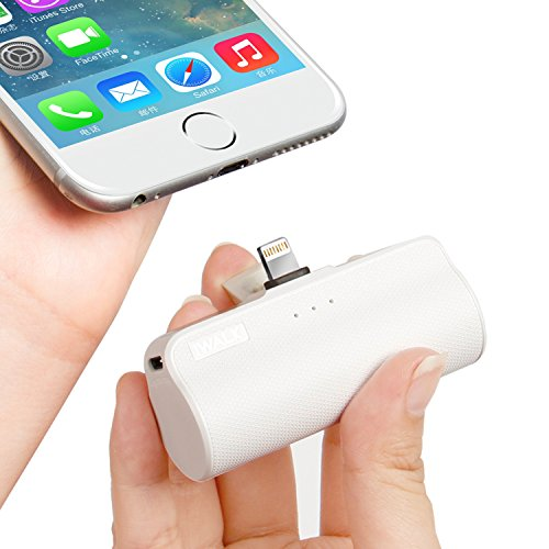 iWALK Portable Charger Power Bank with Lightning Cable Built in, 3300mAh Cell Phone Power Bank Lightning Input/Output, Portable Phone Charger for iPhone 7,7 Plus, 6s, 6 Plus, SE, White