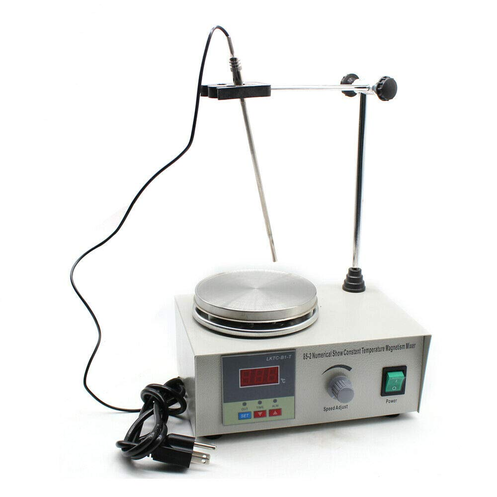 LFJD Digital Magnetic Stirrer, Magnetic Mixer w/Heating Hot Plate Stirring 1000ml 100-2000r/min