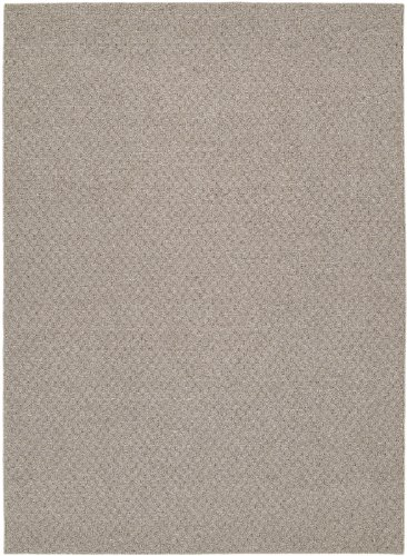 Solid Pecan (Garland Rug Town Square Area Rug, 7-Feet 6-Inch by 9-Feet 6-Inch, Pecan)