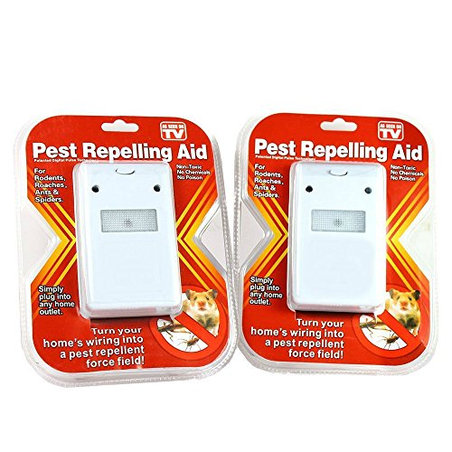 2 Pest Repellent for Rodents, Roaches, Ants, Spiders like Riddex - As Seen on TV (Control Pest Ridx)