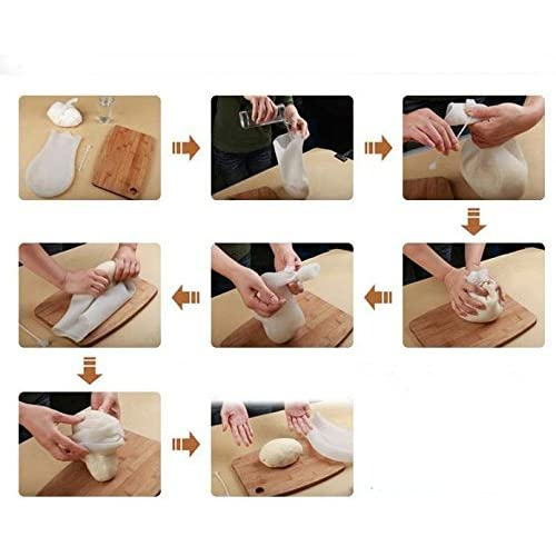 Magic Silicone Kneading Dough Bag for Bread, Pastry, Pizza, Tortilla,Pastries & Jellies | Best Non-Toxic Multifunctional Cooking Tool - Premium Silicone Kitchen Preservation Bag