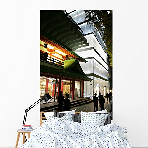 Wallmonkeys Shops Harajuku District Wall Mural Peel and Stick Graphic (72 in H x 48 in W) WM18237