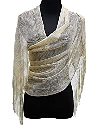 1920s Gatsby Weddings Evening Scarfs,Sheer Glitter Sparkle Piano Shawl Wrap