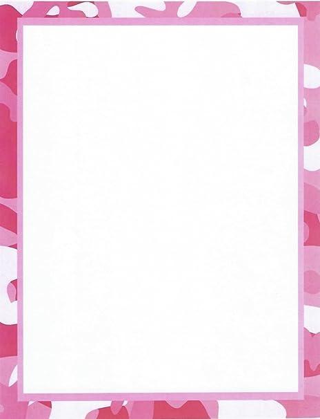 Amazon.com: Camuflaje, Color Rosa Papelería Papel para ...