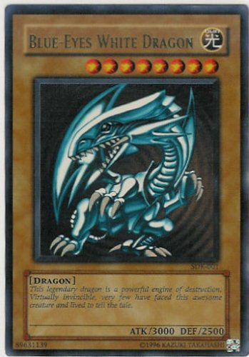 photo relating to Printable Yugioh Cards identified as Yugioh Sdk-001 Blue-eyes White Dragon Extremely Exceptional Holofoil Card [Toy]