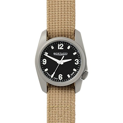 Bertucci A-1T Titanium Watch - Black/Patrol Khaki D-Type ...