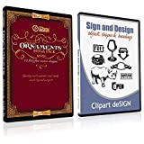 Sign Clipart, Design Elements, Scrolls, Floral, Flourishes, Ornamental Panels + Frames Vinyl Cutter Plotter Vector Clip Art Images, Graphics on CD [includes Sign & Design as a FREE Bonus a $59 value]