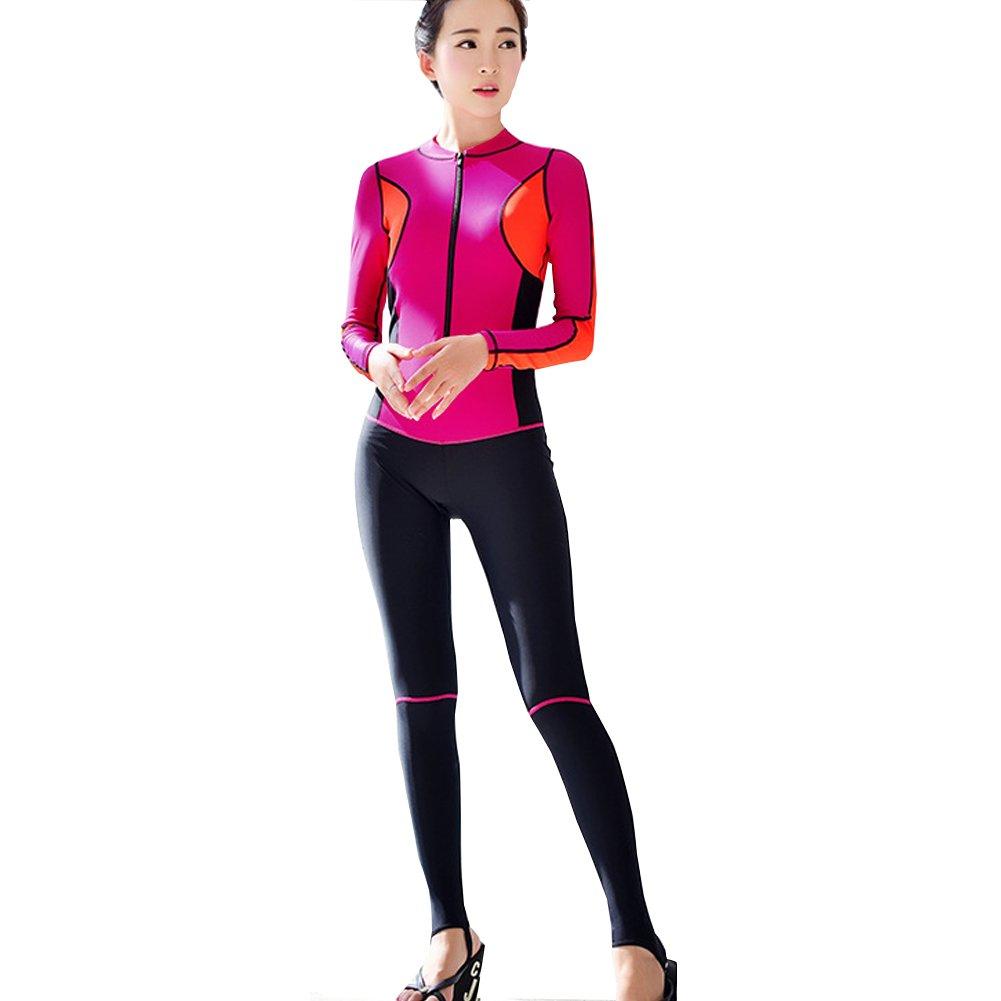Doxungo Outdoor Zip Wetsuit - Women s Quick Dry Swimsuit Siamese Surf Beach  Suit 0f09f15c0