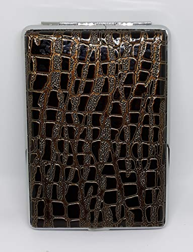 Nulite Brown Croc Design Double Sided PU Leather 120s Cigarette Case