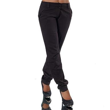 bester Preis großartiges Aussehen bester Großhändler Diva-Jeans H325 Damen Business Hosen Stoffhose Bootcut Elegante Hose  Classic Gerades Bein