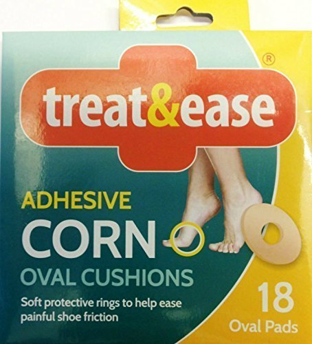 OVAL CORN PADS **FREE UK POST** SELF ADHESIVE OVAL CUSHION SELF PROTECTIVE RINGS REDUCE PRESSURE REDUCE PAIN FROM SHOE FRICTION FOOTCARE CALLUS Balsara' s