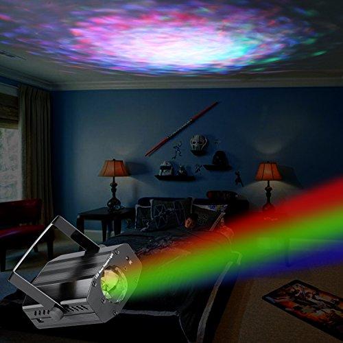 Vnina Party Lights 7 Color Strobe Stageocean Wave