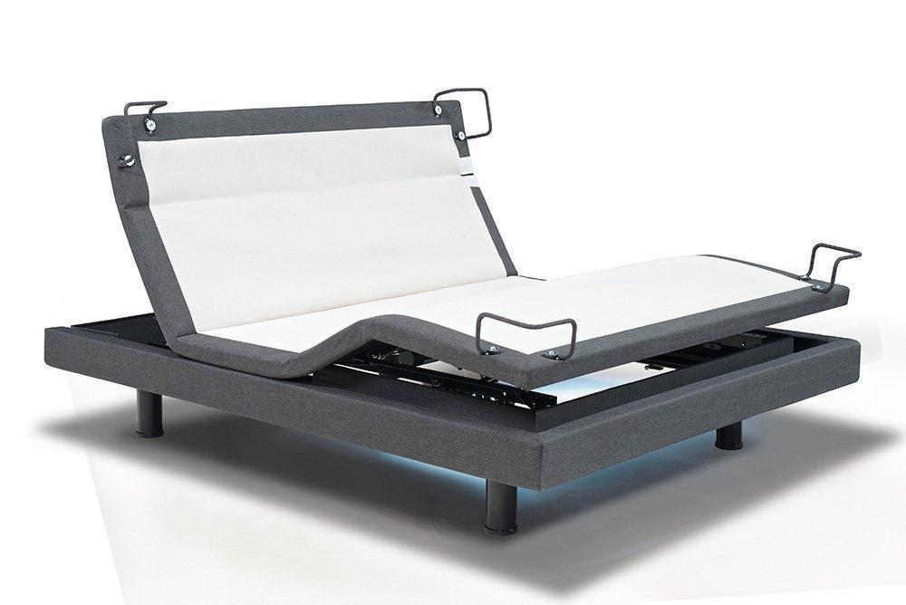 Reverie DynastyMattress 8-Series Adjustable Bed Base - Wireless - Bluetooth - Massage-Under Bed Lighting (Queen-W/Setup)