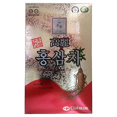 ILHWA 300g(100p x 3g) Korean Red Ginseng Roots Extract Tea 6Years, IL HWA