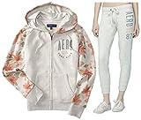 Aeropostale Women's Hoodie and Sweat Pants Set Medium Light Gray