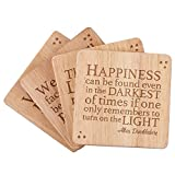 Harry Potter Quote Coasters, 22 To Choose From, Make Your Own Set of Four Wood Coasters, Laser Engrave, Personalized Housewarming Gifts, Home Decorations