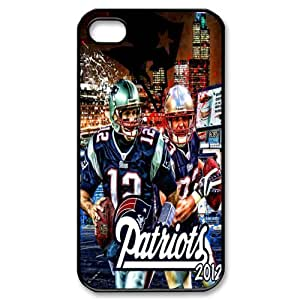 NEW ENGLAND PATRIOTS NFL Classic Design Print Black Case With Hard Shell Cover for Apple iPhone 4/4S