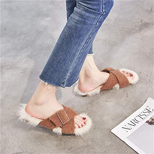 Mujeres Trabajo Lana Viajes Vacaciones Otoño Para Brown De Zapatillas Fresco Zapatos Lhxyx WcBYzY