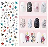 1 Sheet New Year Winter Snowflake Harajuku Nail Art Stickers Water Transfer Nails Wrap Paint Tattoos Stamp Plates Templates Delicate Popular Xmas Christmas Snow Holidays Decals Kit, Type-18