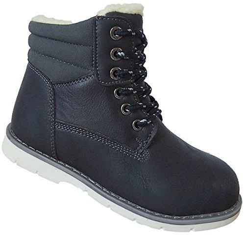 Crianças Pequenas Botas Sapatos De Inverno De Alimentação Hot Gr.26 - 31 Art.-nr.2723 D.blau
