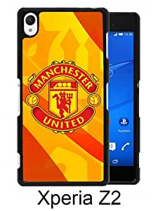 Beautiful And Unique Designed Case For Sony Xperia Z2 With Manchester United 3 black Phone Case