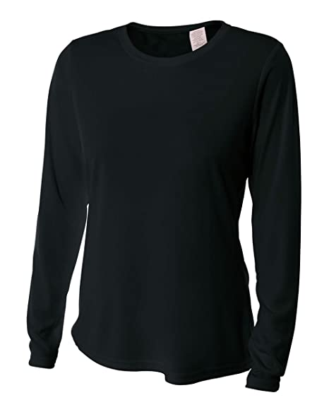 f5346ef0 YogaColors Women's UPF 30+ Performance Long Sleeve T-Shirt with Sun  Protection Black
