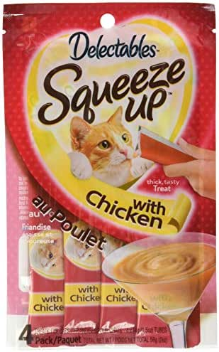 Delectables Squeeze Up Interactive Wet Cat Treats - Chicken - 32 Tubes