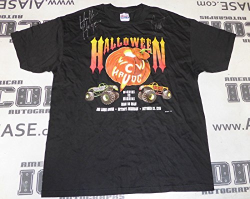 (Hulk Hogan The Giant Big Show Signed 1995 WCW Halloween Havoc Shirt WWE - PSA/DNA Certified - Autographed Wrestling Miscellaneous)