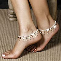 1x Barefoot Sandal Crystal Pearl Anklet Tassel Ankle Bracelet Foot Chain Jewelry
