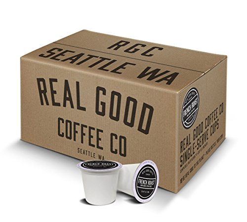 Real Good Coffee Co Recyclable K Cups, French Roast Dark, Keurig 2.0 and 1.0 Compatible, 36 Single Serve Coffees