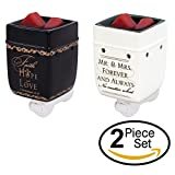 2 Pc Set Faith Hope Love 1 Corinthians 13:13, Mr Mrs Plug-In Wax Tart Oil Candle Warmer
