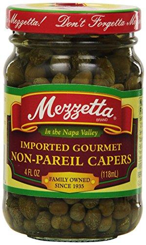 Mezzetta Capers, Non-Pareil, 4 Ounce (Pack of 12)