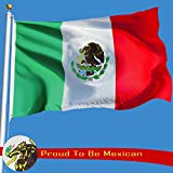 G128 Mexican Flag Mexico Flag Mexican National Flags 3x5ft Printed Quality Polyester with Brass Grommets Double Stitched