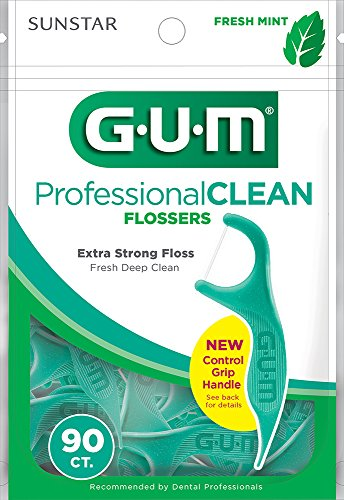 Sunstar 893F GUM Mint Flavor Professional Clean Flosser (Pack of (Mint Flossers)