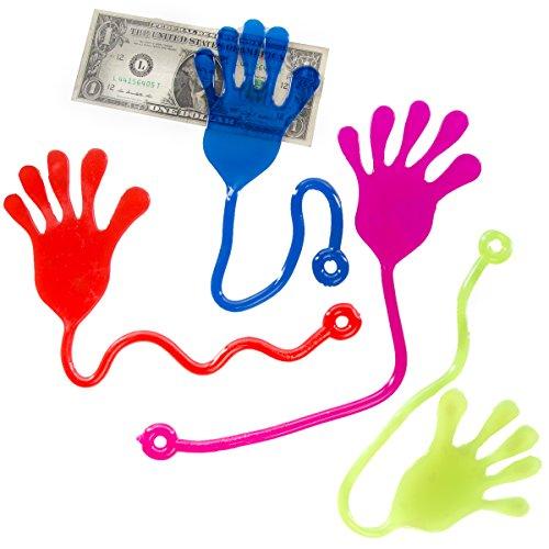 Ja-Ru (Set of 4) Jumbo Sticky Hands For Kids Birthday Party Favor Novelty Gag Gift Small Toys for Prizes