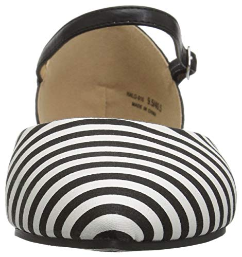 Ballet Laundry Stripe Women's Flat CL White Cake by Chinese black Hot Black PtaEwYq