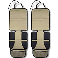 Car Seat Protector, Tan (2-Pack) by Drive Auto Products - Best Protection for Child & Baby Cars Seats, Dog Mat - Ultimate Cover Pad Protects Automotive Vehicle Leather or Cloth Upholstery