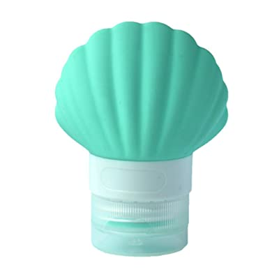 Silicone Travel Bottles Leak Proof Travel Tubes, Cocal Silicone Travel Pack Press Bottle Lotion Shampoo Shower Bath Tube Container (Green)