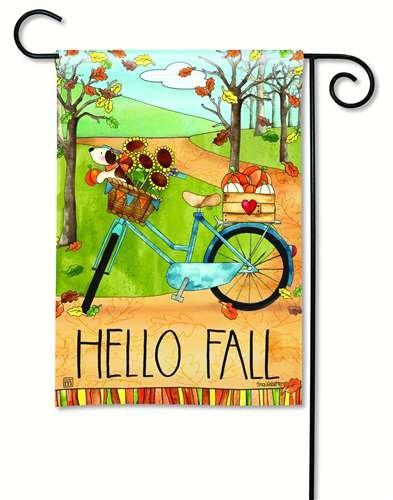 Bandera de Jardín BreezeArt Otoño paseo en bicicleta jardín ...