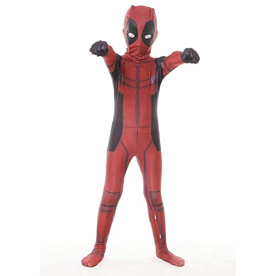 Niño Deadpool Juega Ropa Traje De Anime Medias De Cosplay ...