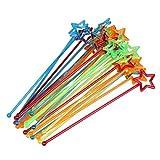 30pcs Mixed-color Plastic Star Design Cocktail Drink Stirrers Swizzle Stick