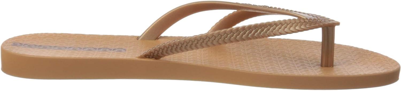 4 UK Ipanema Womens Flip Flop Sandals Multicoloured Brown Rose 8706 0