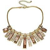 Fsmiling Vintage Gold Tone Chain Crystal...