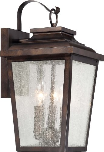 Minka Lavery 72172-189, Irvington Manor Aluminum Outdoor Bronze Lantern Light, 225 Watts with Clear Seeded Glass by Minka Lavery