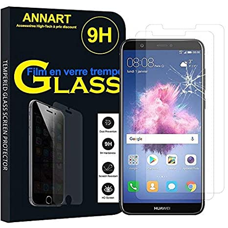 texture nette gros en ligne design distinctif ANNART® [2 Pièces Film Protection écran en Verre trempé pour Huawei P Smart  5.65
