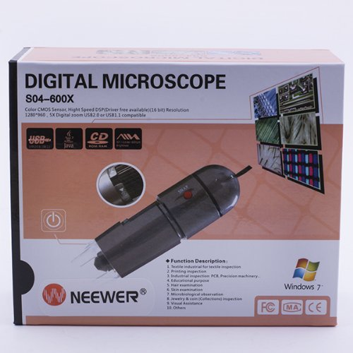 NEEWER/® Portable 25X-600X 8LED 1.3M Pixel CMOS USB Digital Microscope with Base Stand 30035619