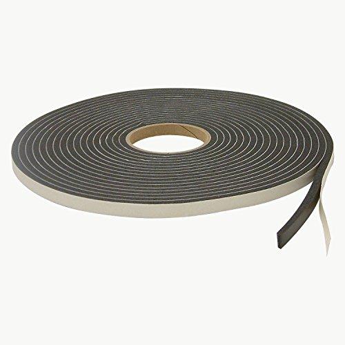 JVCC SCF-01 Single Coated PVC Foam Tape: 1/4 in. thick x 1/2 in. x 35 ft. (Black) - 15 X 24 X 0.25 Foam