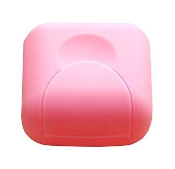Conjunto de 3 Mini jaboneras baño de jabón viaje jaboneras Cajas Caja rosada: Amazon.es: Hogar